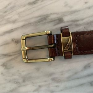 Nautica Boys Brown leather belt size 28